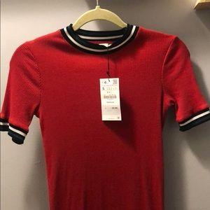 Zara Red midi dress Size S